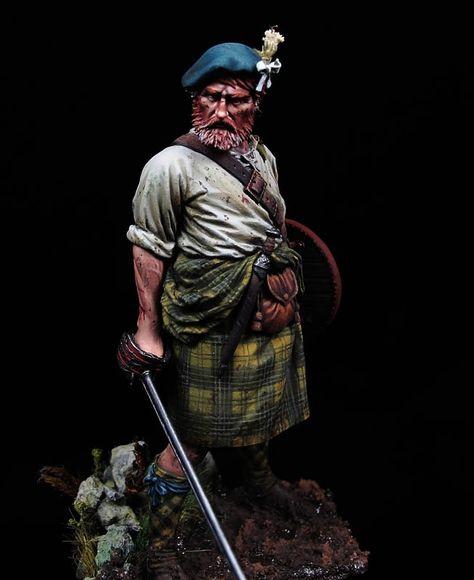 1:24 Highland Clansman Veteran Crusade 75mm Resin Figure High Quality Model
