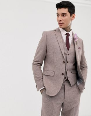 HARRY BROWN Blazer Wool Blend Tailored Fit