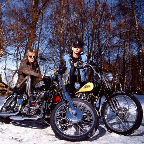 "#heavymetal #ink #tattoo #nofilter #tbt #motorcycle #metal #steel #leather #winter #guitar #sing #loud #proud ""more wheels of fire! me and Glenn somewhere in Scandinavia"""