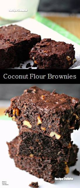 Recipe Delisha Brownies Best Naila Recipes Coconut