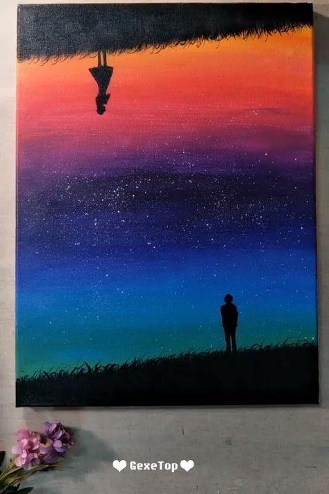 10 Best Starry Sky Painting Ideas - Painting Tutorial Videos | Part 6