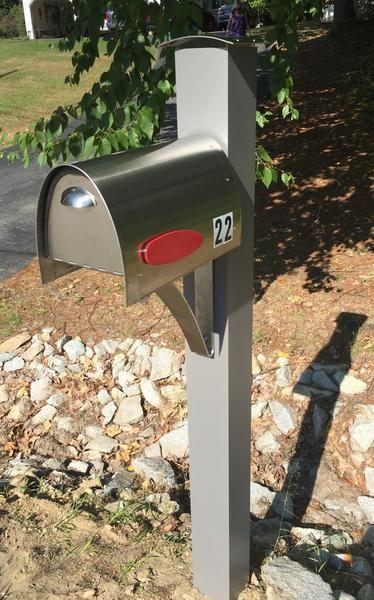 Spira Post Mount Mailbox Medium Mounted Mailbox Post Mount Mailbox