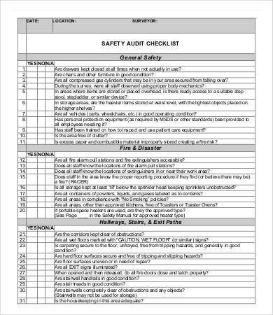 12 Audit Checklist Templates Free Sample Example Format Template