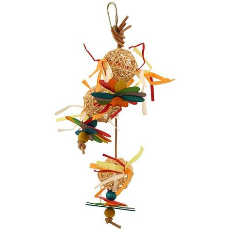 7 Pack Willow Rainbow Rings Woven Chew Parrot Toy