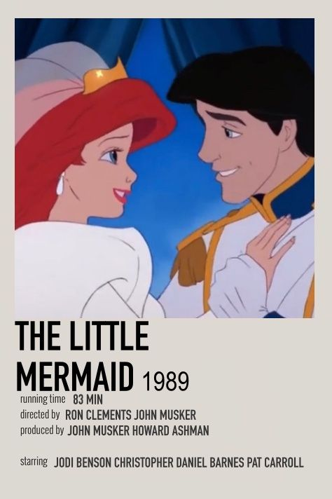 THE LITTLE MERMAID POSTER by me
