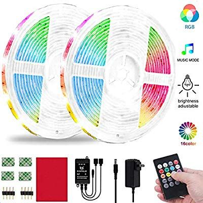 Amazon Com Led Strip Lights Patioption 32 8ft Rgb Light Strips Music Sync Color Changing Rope In 2020 Led Strip Lighting Color Changing Rope Lights Strip Lighting