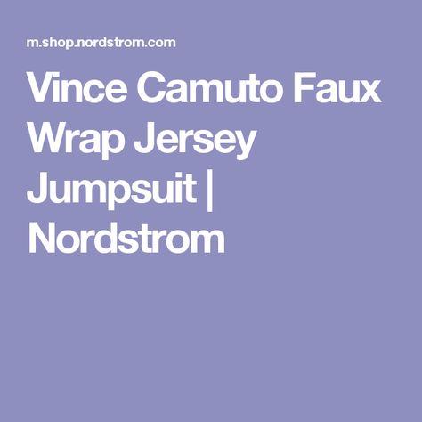 Vince Camuto Faux Wrap Jersey Jumpsuit Nordstrom Fashion