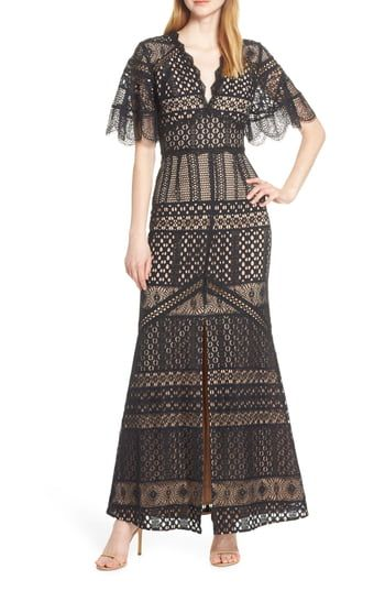 New Harlyn Flutter Sleeve Lace Evening Gown Womens Fashion Dresses. [$223] topusshop offers on top store