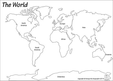 Blank World Map (Black and white) - JohoMaps My Maps Pinterest - best of free online world map creator