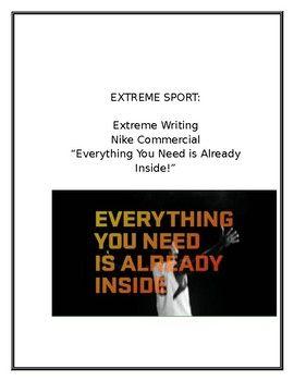 Extreme Writing: Extreme Sport: Nike Commercial | English