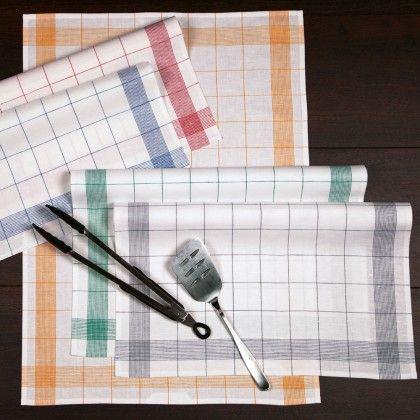 Klassische Geschirrtücher in verschiedenen Farben können zu fast allen Einrichtungsstilen erfolgreich kombiniert werden.  Mehr unter: www.bettwaren-shop.de/Wohnen/Kueche/Ross-Zwirn-Halbleinen-Geschirrtuecher-Fadenkaro-50x70-cm.html?campaign=PIN