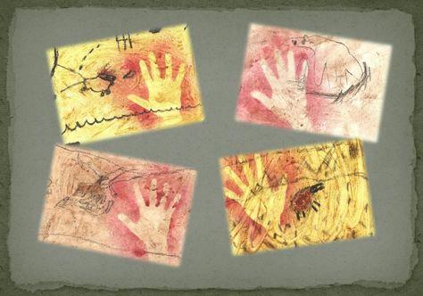 Pour aborder la préhistoire en histoire des arts, et réaliser des productions sans peinture !