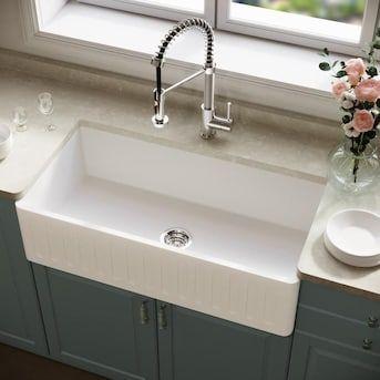 16+ White apron front farmhouse sink ideas