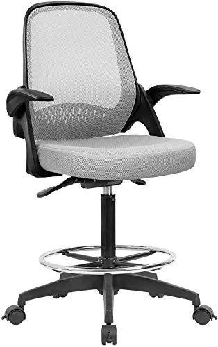 Best Seller Devoko Drafting Chair Tall Office Chair Flip Up