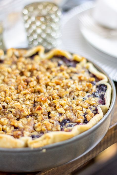Blueberry, Goat Cheese and Basil Pie