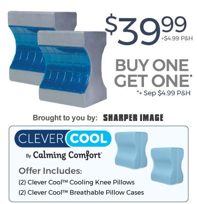 Clever Cool By Calming Comfort Offer Knee Pillow Calm Gel