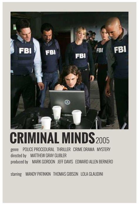 alternative movie posters criminal minds