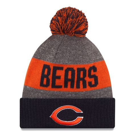 top fashion on feet images of how to buy Chicago Bears Logo 2016 Sideline Official Sport Knit Hat ...