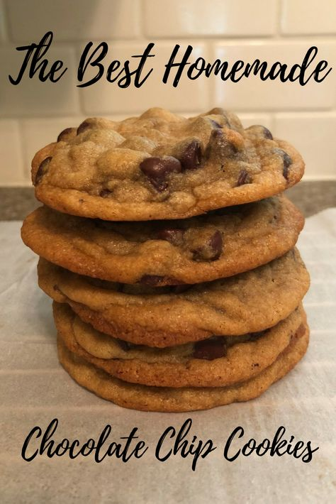 As a self-proclaimed dessert enthusiast, these are the best homemade chocolate c. - Sweet Treats - As a self-proclaimed dessert enthusiast, these are the best homemade chocolate chip cookies I& - Homemade Chocolate Chips, Easy Chocolate Chip Cookies, Chocolate Cookie Recipes, Easy Cookie Recipes, Easy Desserts, Sweet Recipes, Delicious Desserts, Easy Homemade Cookies, Quick Cookies