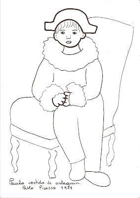 Resultado De Imagen De Dibujo De Arlequin Para Colorear Arte De Picasso Cuadros De Picasso Pablo Picasso