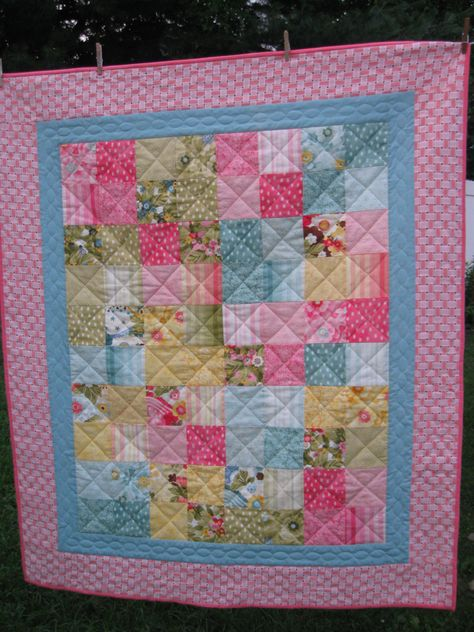 """Handmade quilt titled, """"Tropical Dreams"""" by 3MaterialObsessions on Etsy"""