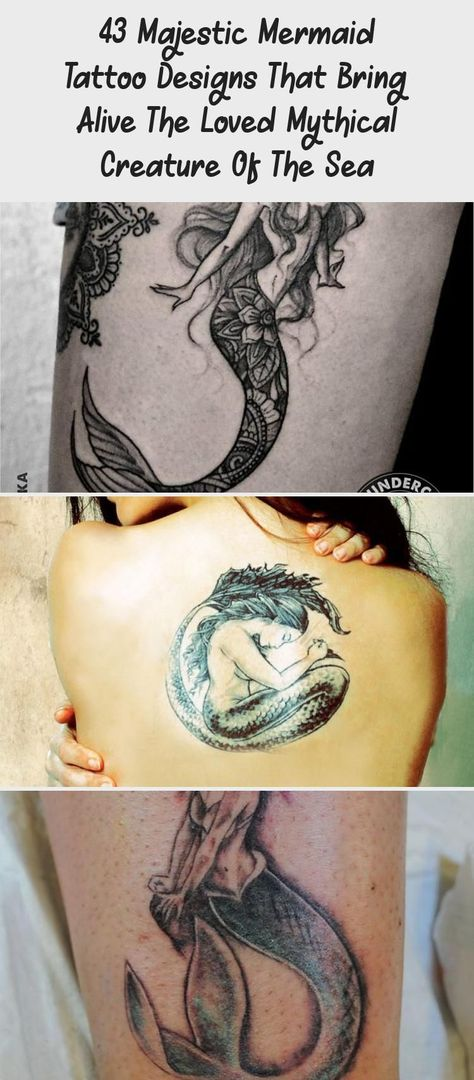 43 Majestic Mermaid Tattoo Designs That Bring Alive The Loved Mythical Creature Of The Sea - Tattoo -  Gorgeous Black and White Dotwork Mermaid and Floral Tattoo #Cuteblacktattoo #blacktattooHip #blackt - #Alive #Bring #Creature #designs #Loved #Majestic #Mermaid #mermaidtattoo #Mythical #Sea #Tattoo #tattooantebrazo #traditionaltattoo
