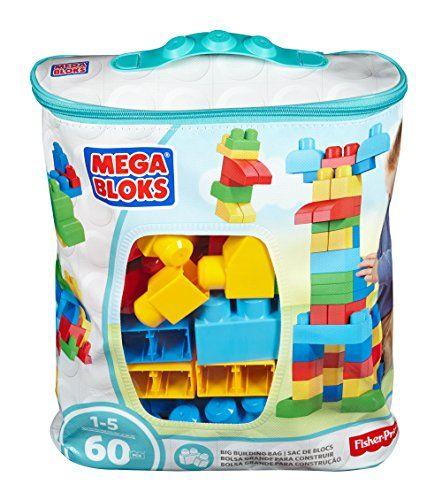 Blue 60 Pieces Mega Bloks Construx 900 DCH55 Big Building Bag