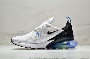 Mens Womens Winter Nike Air Max 270 Sneakers White Black Blue