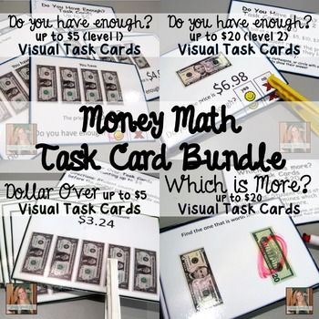 Visual Task Cards for Special Education Special education, Math