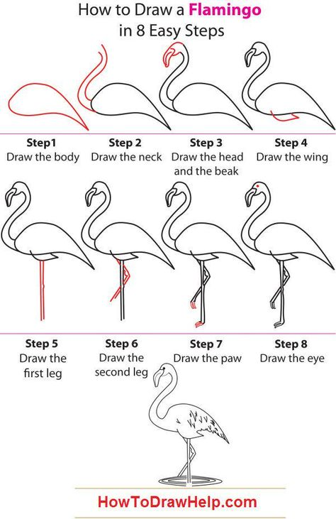 ideas step by step how to draw a flamingo I actually did this and it turned out pretty good! (Diy S. how to draw a flamingo I actually did this and it turned out pretty good! (Diy Step How To Paint) Flamingo Painting, Flamingo Decor, Pink Flamingos, Flamingo Drawings, Flamingo Illustration, Flamingo Beach, Drawing Lessons, Art Lessons, Drawing Ideas