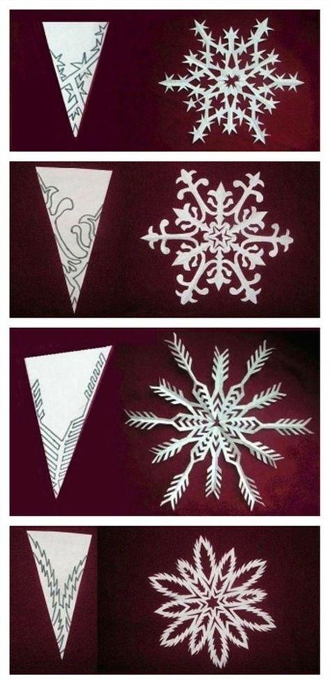 Perfect Snowflake Cutouts Kerajinan Natal Keping Salju Bunga Kertas
