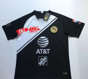 reputable site 35c72 9762e 2018-19 Cheap Jersey Club America Goalie Replica Black Shirt ...