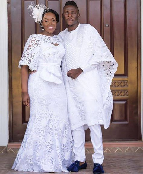 African couples Outfits, husband and wife combination, African wear, Men 3 piece, African lace dress