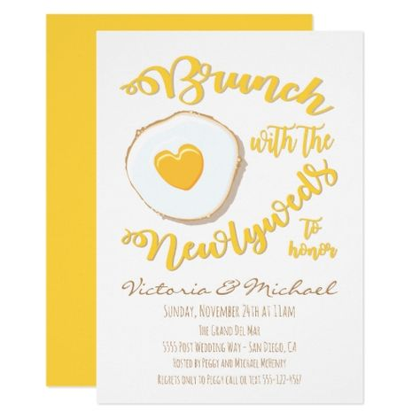 shower Illustration Fun - Brunch with the Bride to be invitation.