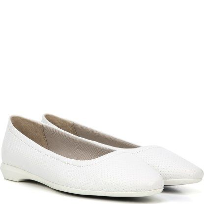 Comfortable White Flats   Comfortable