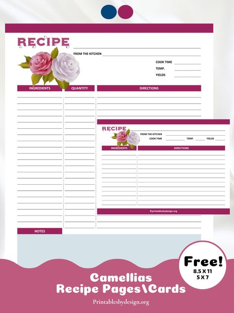 Recipe Cards Pages Printables By Design In 2020 Recipe Cards Recipe Book Diy Recipe Template