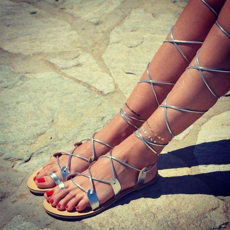Gladiator sandals , Women Leather Sandals