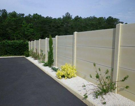 Clôture jardin plaques de béton peintes en gris anthracite Jardin