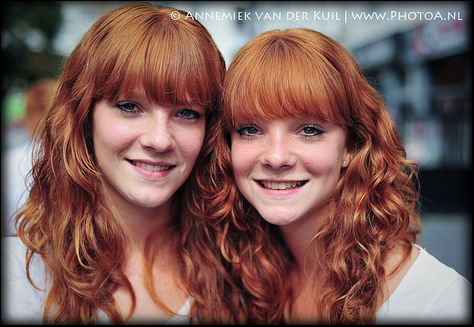 Beautiful redhead twins Anne & Malou Luchtenbery