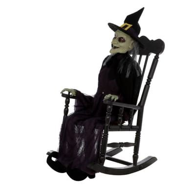 Groovy Home Accents Holiday 61 In Animated Witch In Rocking Chair Pdpeps Interior Chair Design Pdpepsorg