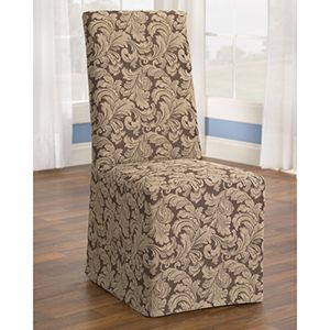 Brilliant Sure Fit Natural Cotton Duck Long Dining Room Chair Cjindustries Chair Design For Home Cjindustriesco