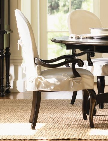 Dining Room Chair Covers With Arms Topdekoration Com In 2020 Dining Room Chair Covers Dinning Room Chairs Slipcovers For Chairs
