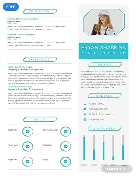 Free Experienced Civil Engineer Resume Cv Template Word Doc Psd Indesign Apple Mac Pages Publisher Desain