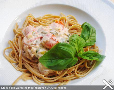 Spaghetti mit Frischkäse - Thunfisch - Sauce