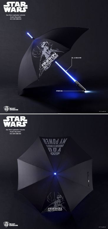 Beast Kingdom Star Wars Anakin Skywalker Lightsaber Light Led Umbrella Starwars Starwarsumbrella Star Wars Anakin Anakin Skywalker Lightsaber Star Wars Fans