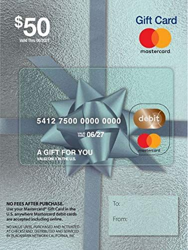 50 Mastercard Gift Card Plus 4 95 Purchase Fee In 2020 With