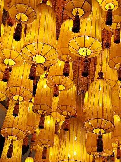 lanterns in Hangzhou, China . lanterns in Hangzhou, China Plus Hangzhou, Jaune Orange, Chinese Lanterns, Chinese Lamps, Yellow Submarine, Shades Of Yellow, Colour Yellow, Gray Color, Happy Colors
