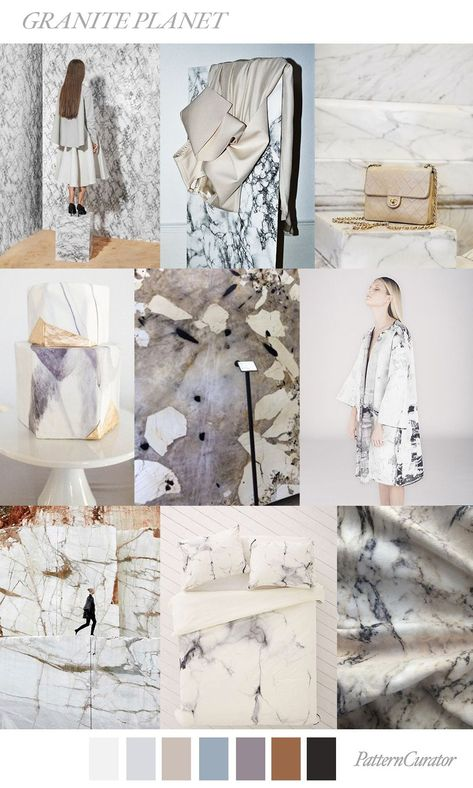 GRANITE PLANET by PatternCuator SS19 #FashionTrendsMoodboard