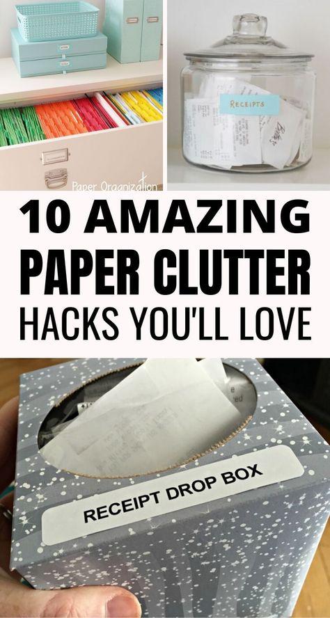 10 Best Paper Clutter Organization Hacks - Craftsonfire