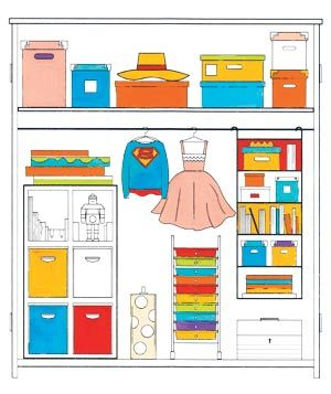 Use these storage tips to keep your child's toys and games organized (and off the floor).